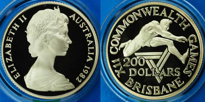 Australia 1982 Commonwealth Games $200 Proof