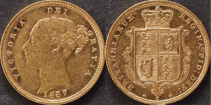 Australia 1887 Sydney Half Sovereign aUNC