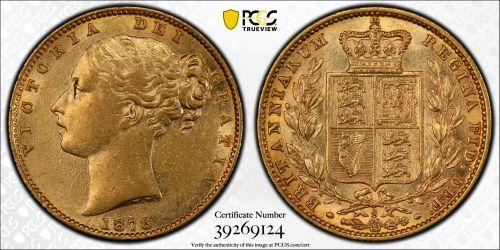 Australia 1878 Sydney Sovereign PCGS AU53