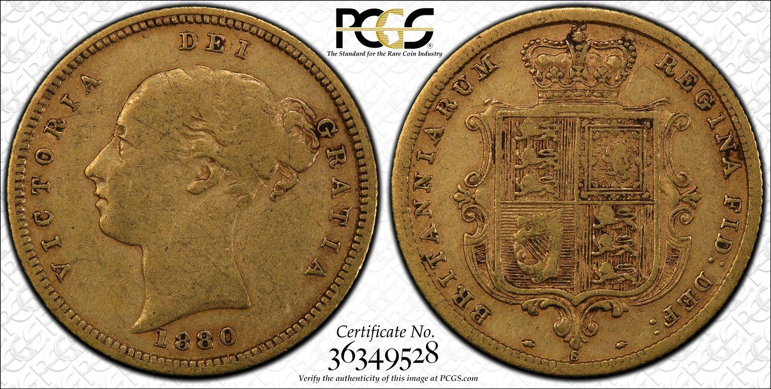 Australia 1880 Sydney Half Sovereign PCGS VF30
