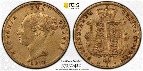 Australia 1879 Sydney Half Sovereign PCGS XF45 RBA