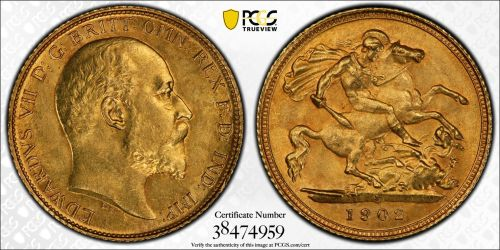 Australia 1902 Sydney Half Sovereign PCGS MS63