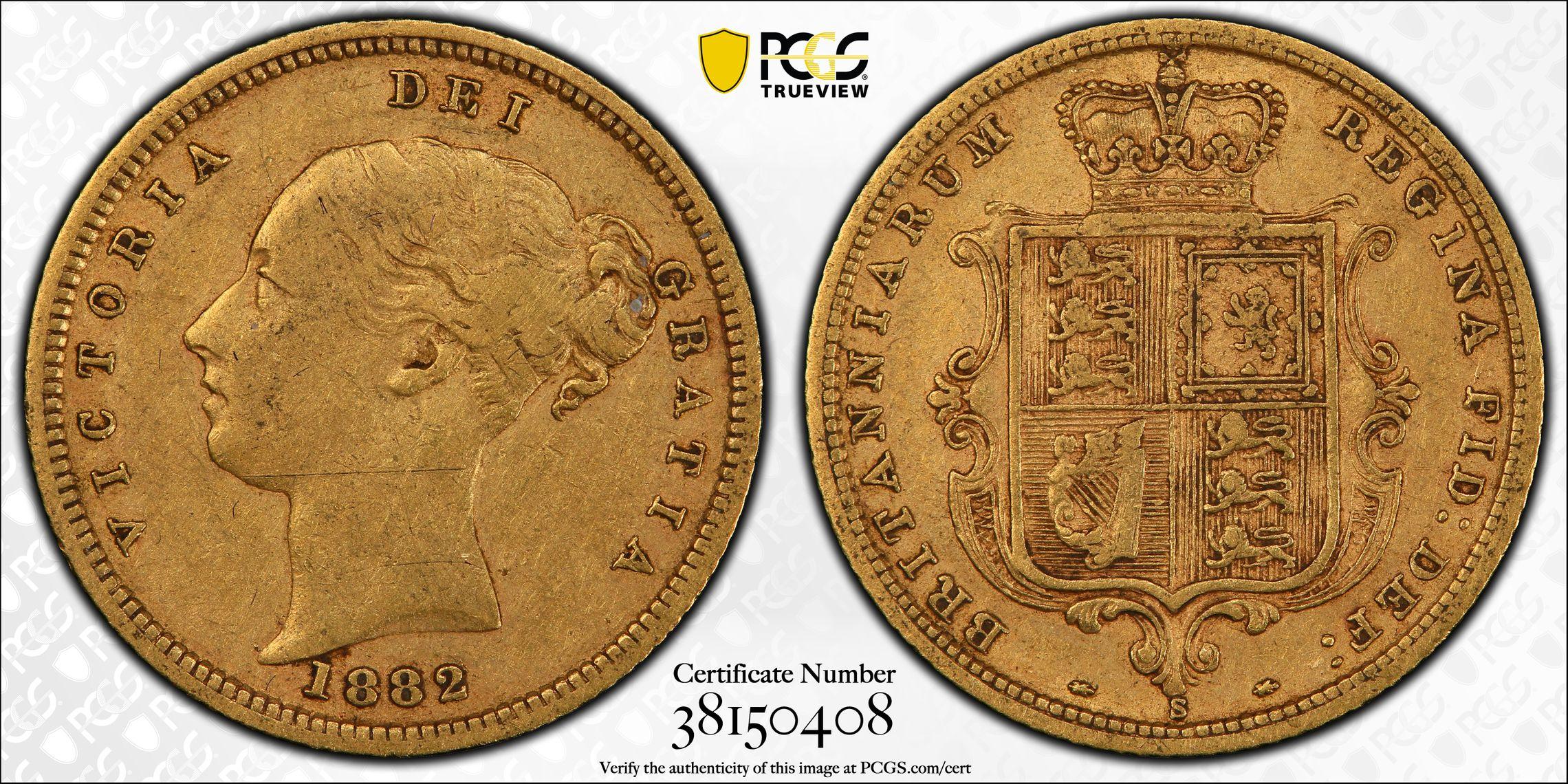 Australia 1882 Sydney Half Sovereign PCGS VF35