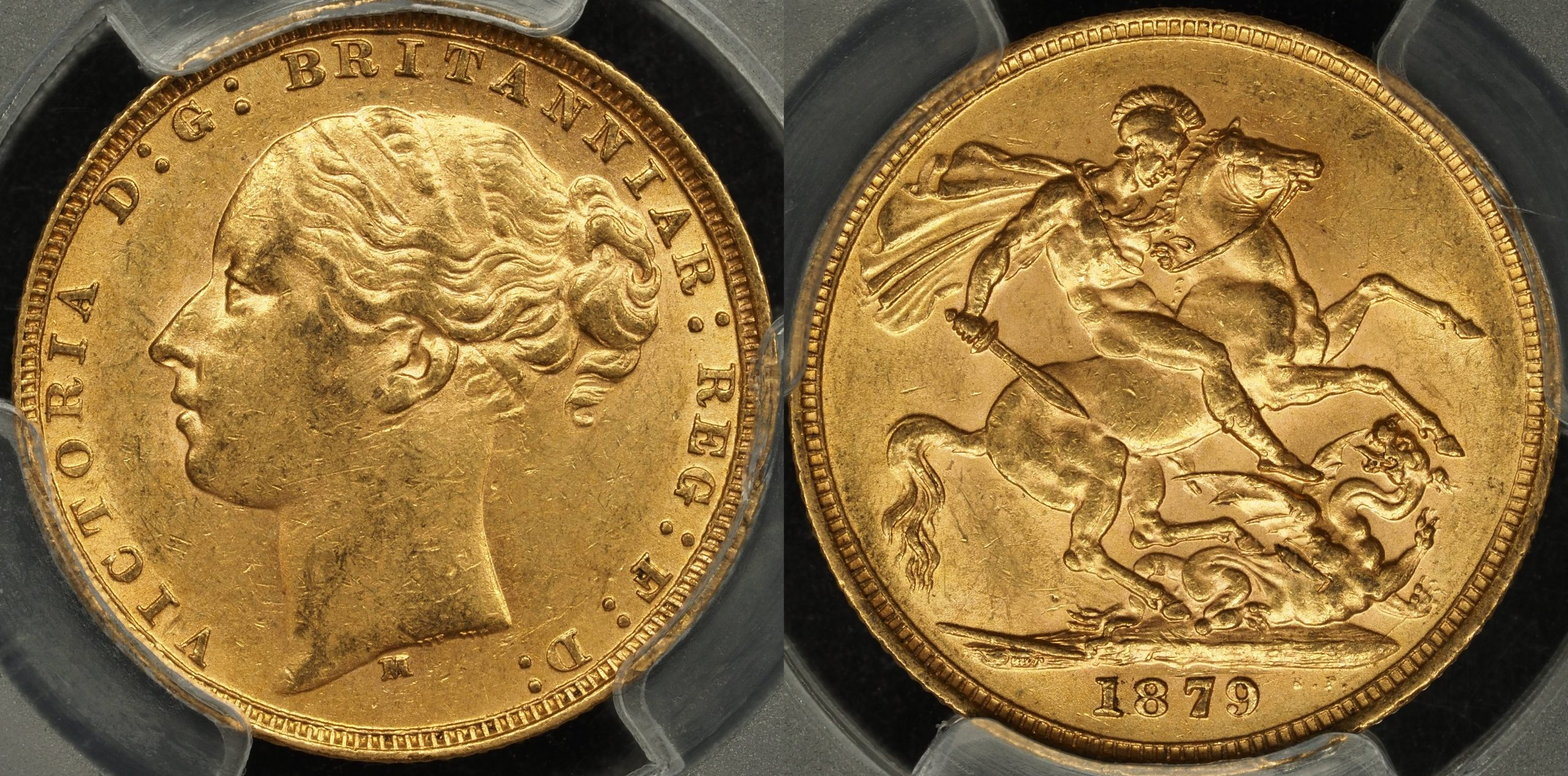 Australia 1879 Melbourne Sovereign PCGS AU58