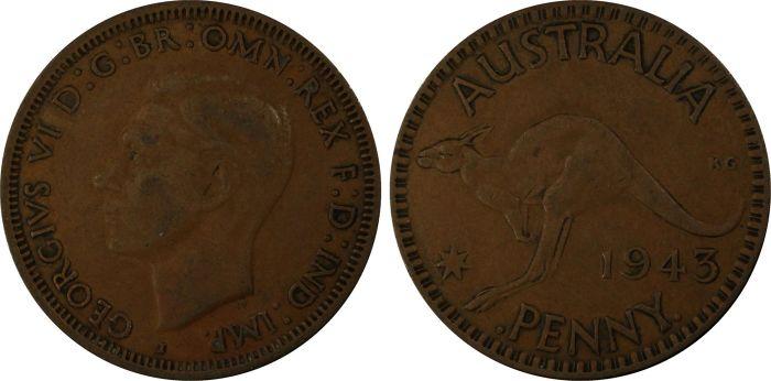 Australia 1943 Penny - PCGS VF35