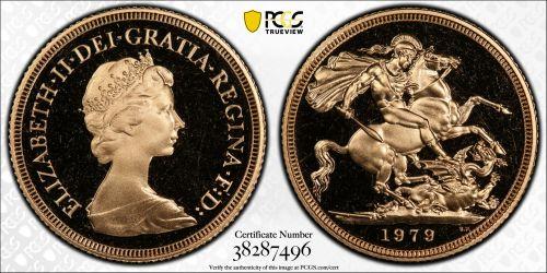 Great Britain 1979 Sovereign - PCGS PR68