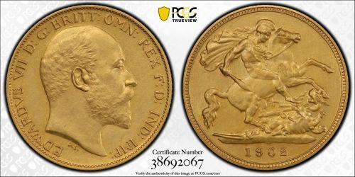 Great Britain 1902 Half Sovereign - PCGS PR62