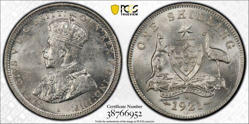 Australia 1921 Sydney Shilling - PCGS MS61