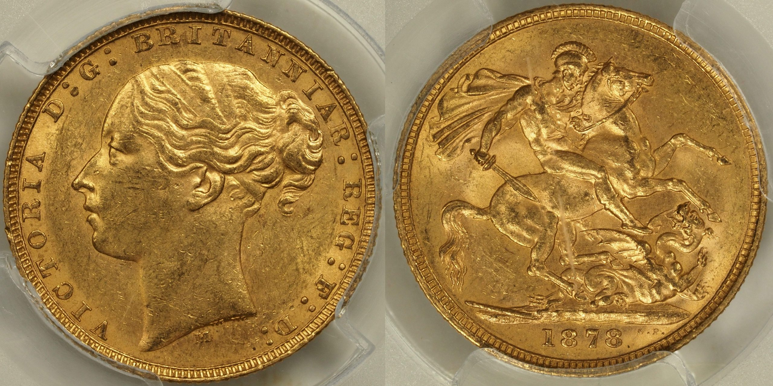 Australia 1878 Melbourne Sovereign - PCGS MS61