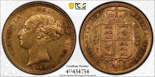 Australia 1886 Sydney Half Sovereign - PCGS AU53