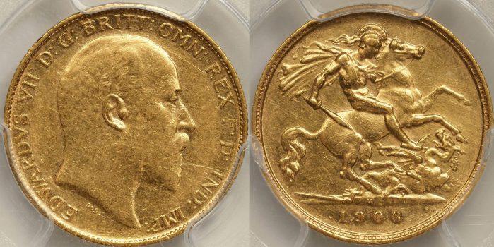 Australia 1906 Melbourne Half Sovereign - PCGS AU53