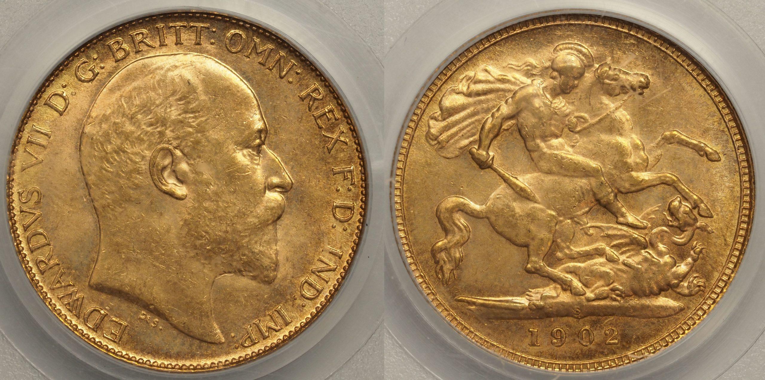Australia 1902 Sydney Half Sovereign - PCGS MS62