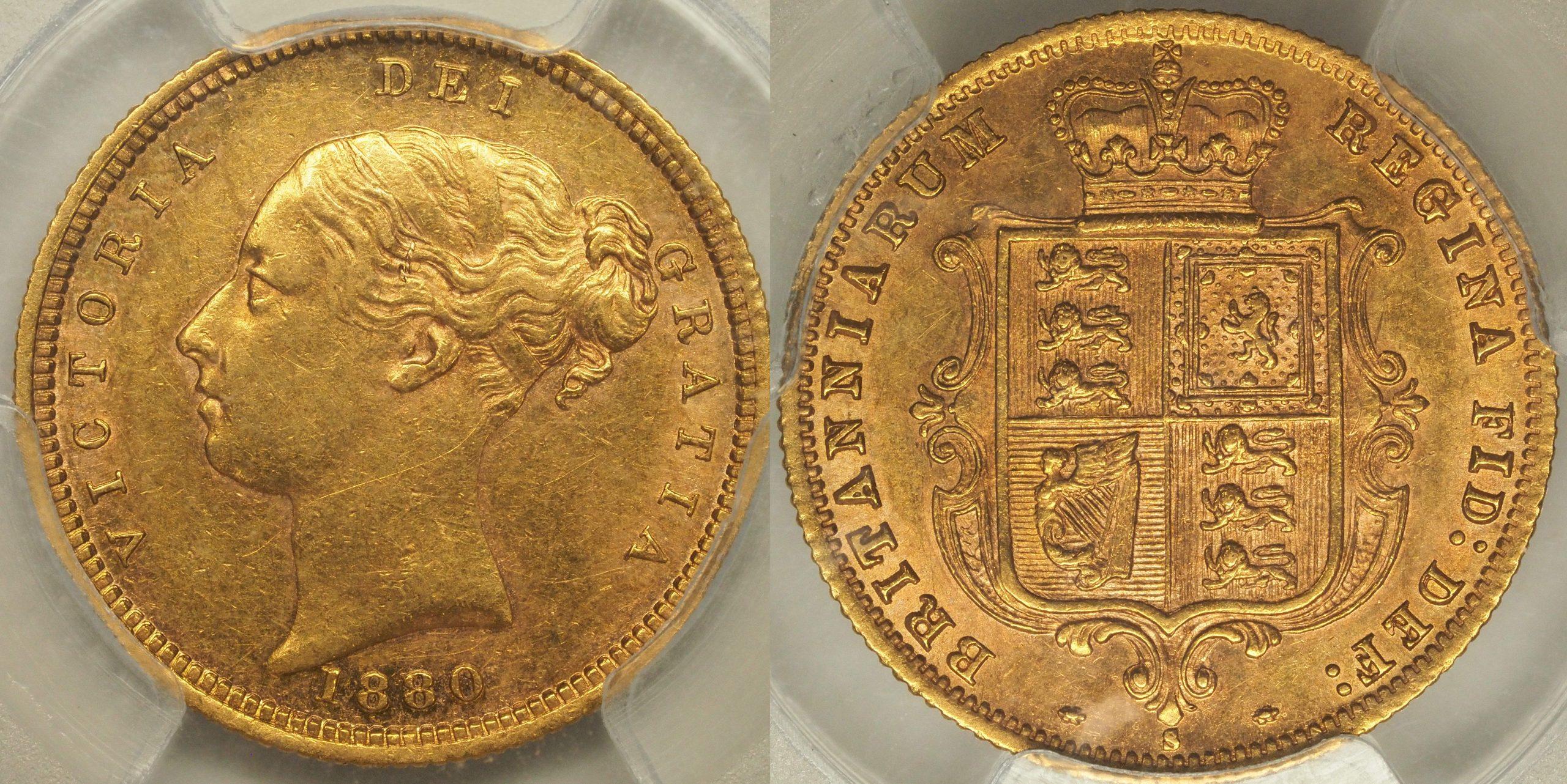 Australia 1880 Sydney Half Sovereign PCGS AU53