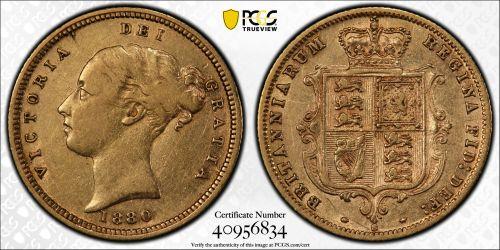 Australia 1880 Sydney Half Sovereign - PCGS VF Detail