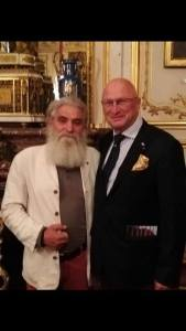 Artistul Mihai Topescu si domnul Jan De Maere