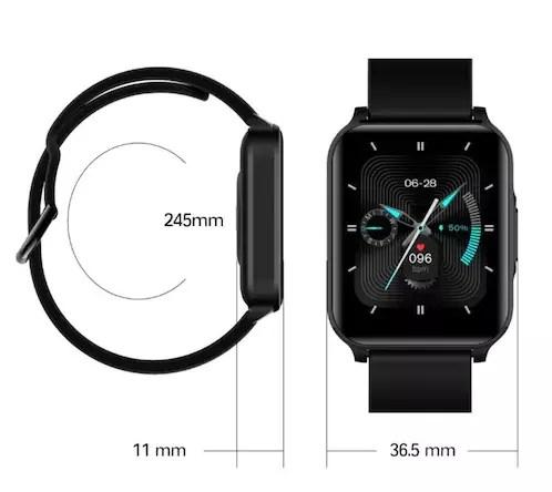 Misurazioni dello smartwatch Lenovo S2 Pro