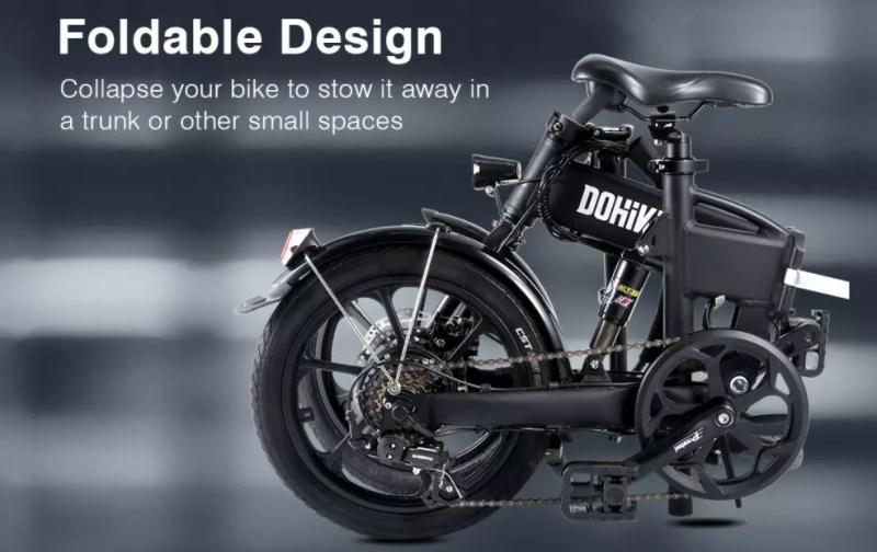 Bicicletta elettrica pieghevole Dohiker