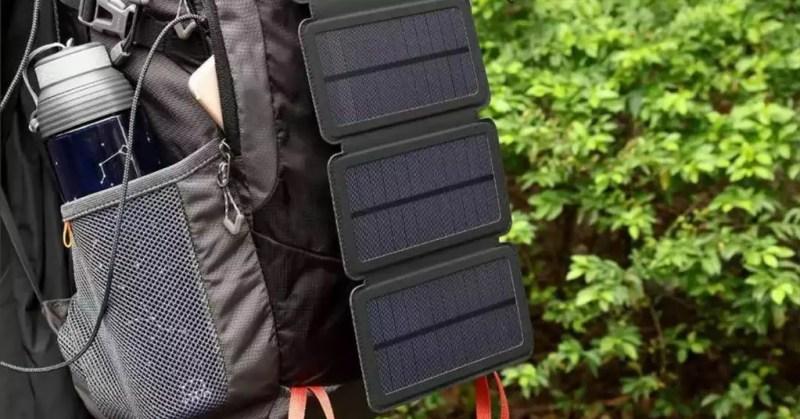 zaino caricatore solare solar