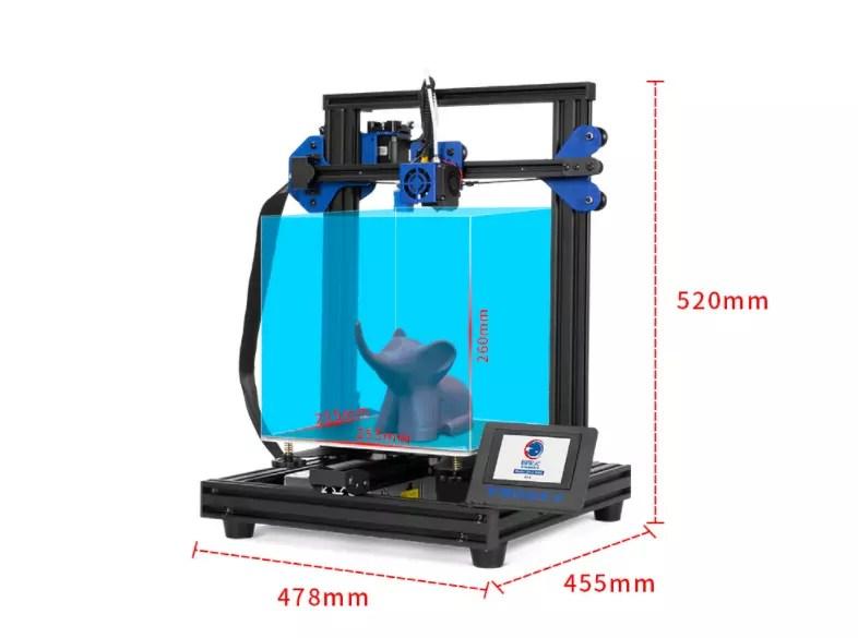 misurazioni della stampante 3D tronxy