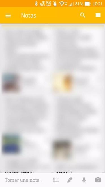Inicio para tomar notas con Google Keep utilizando sólo la voz
