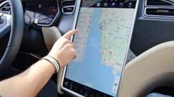 Uso del navegador del Tesla Model S P100D