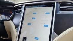Consola del Tesla Model S P100D