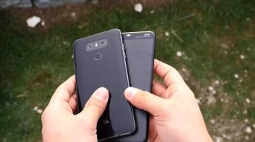 Trasera Huawei P10 Plus vs LG G6