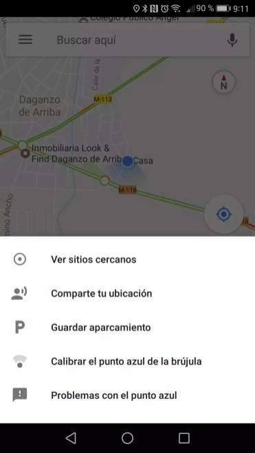 Indicar aparcamiento en Google Maps