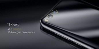 Oro en el cabado del Xiaomi Mi 6 de cerámica