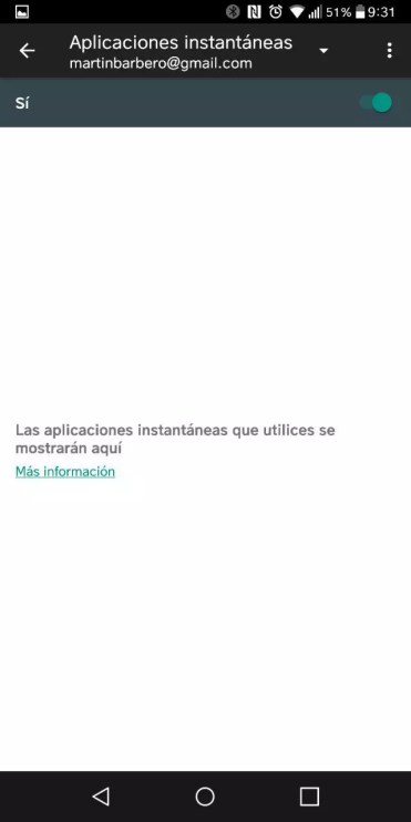 Activar Instant Apps en Android