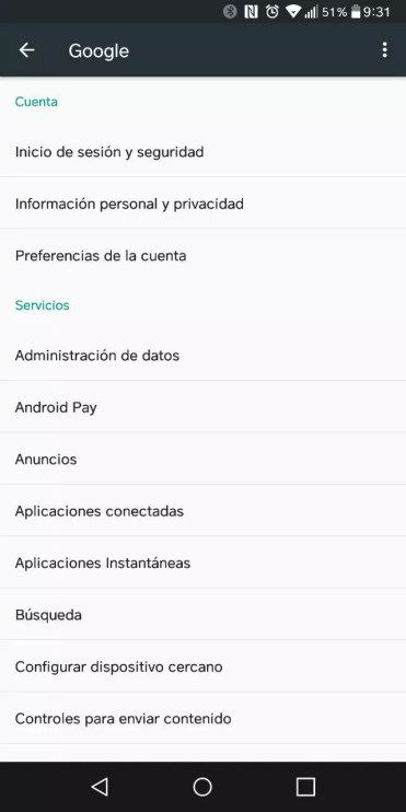 Lista con Instant Apps