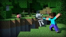Lucha en juego Minecraft