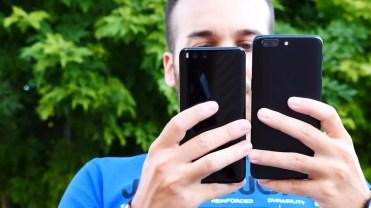 Trasera de los OnePlus 5 y Xiaomi Mi 6