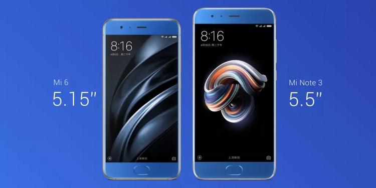 Frontal nuevo Xiaomi Mi Note 3 precio