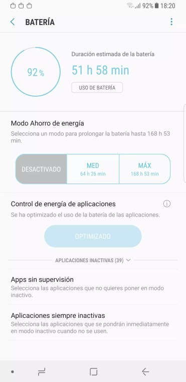 Apps control Samsung Galaxy Note 8
