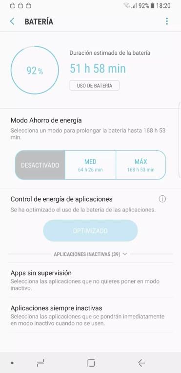 Apps control Samsung Galaxy Note 8