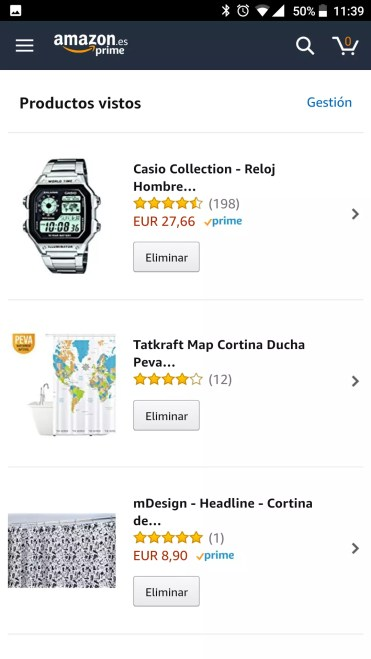 Lista Amazon