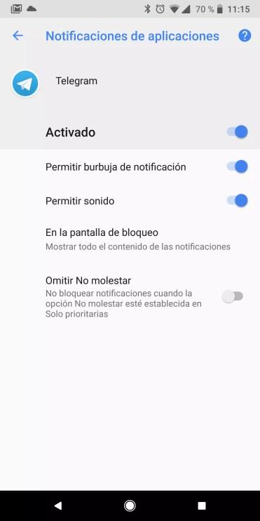 App burbuja Android Oreo