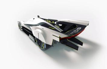 Diseño coche competición de Tesla