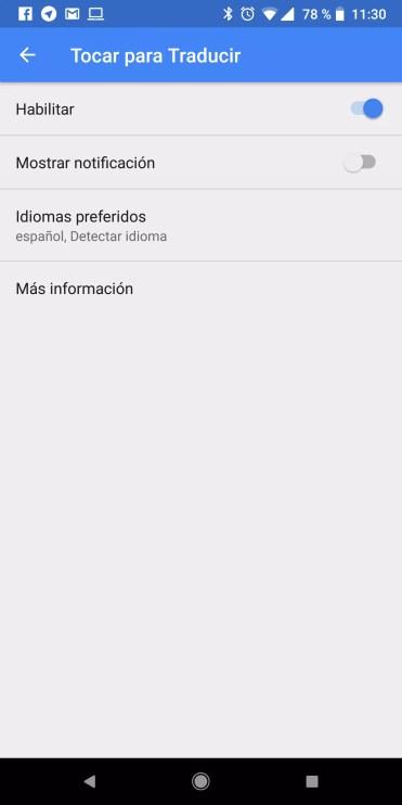 Habilitar uso aplicaciones del traductor de Google