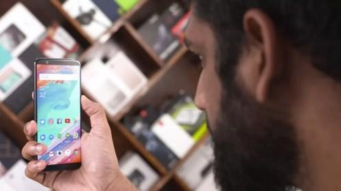 Uso reconocimiento facial OnePlus 5T