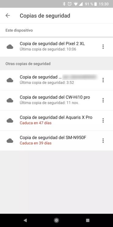Copias de seguridad Android en Drive