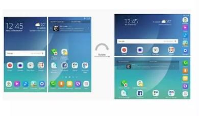 teléfono plegable Samsung interfaz