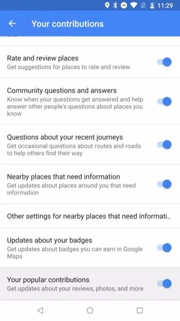 Nuevos Ajustes en Google Maps