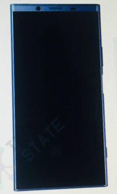 Frontal sucesor Sony Xperia XZ1