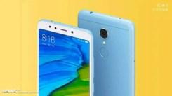 Xiaomi Redmi 5 con fondo amarillo
