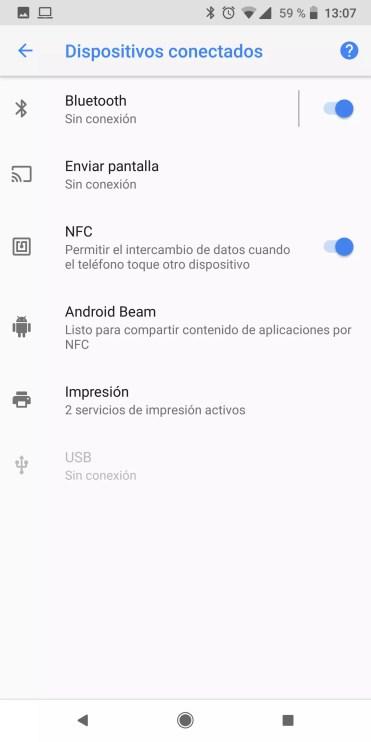 Conexiones en un teléfono Android