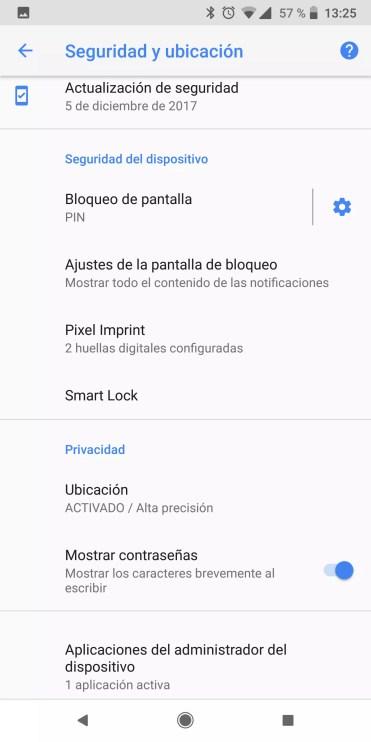 Seguridad en un teléfono Android