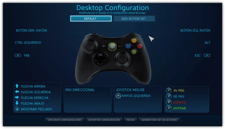 Interfaz mando Xbox® One en Windows 10