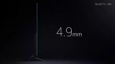 Grosor del televisor Xiaomi Mi LED TV 4